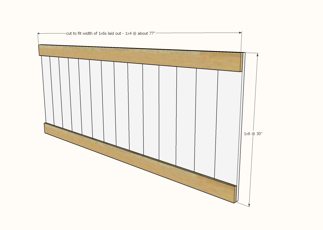 diagram showing headboard panel construction