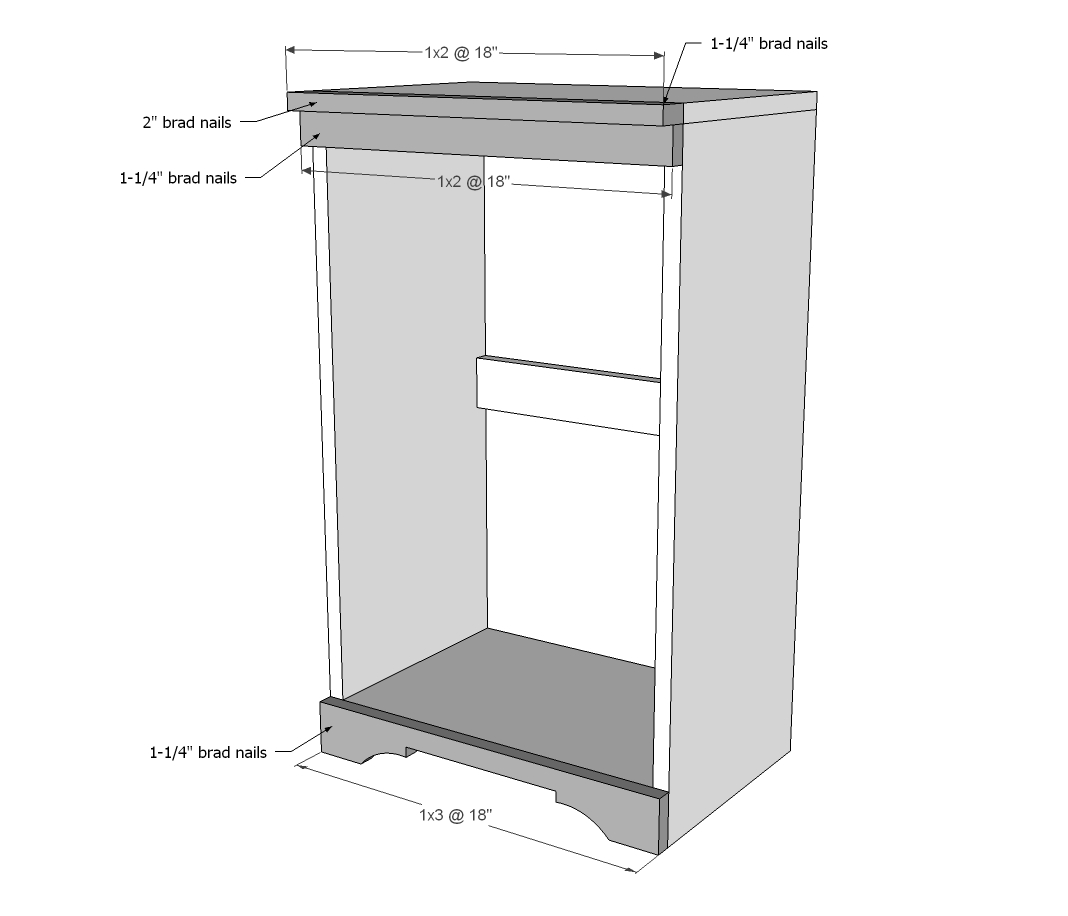 Wood Tilt Out Trash or Recycling Cabinet | Ana White