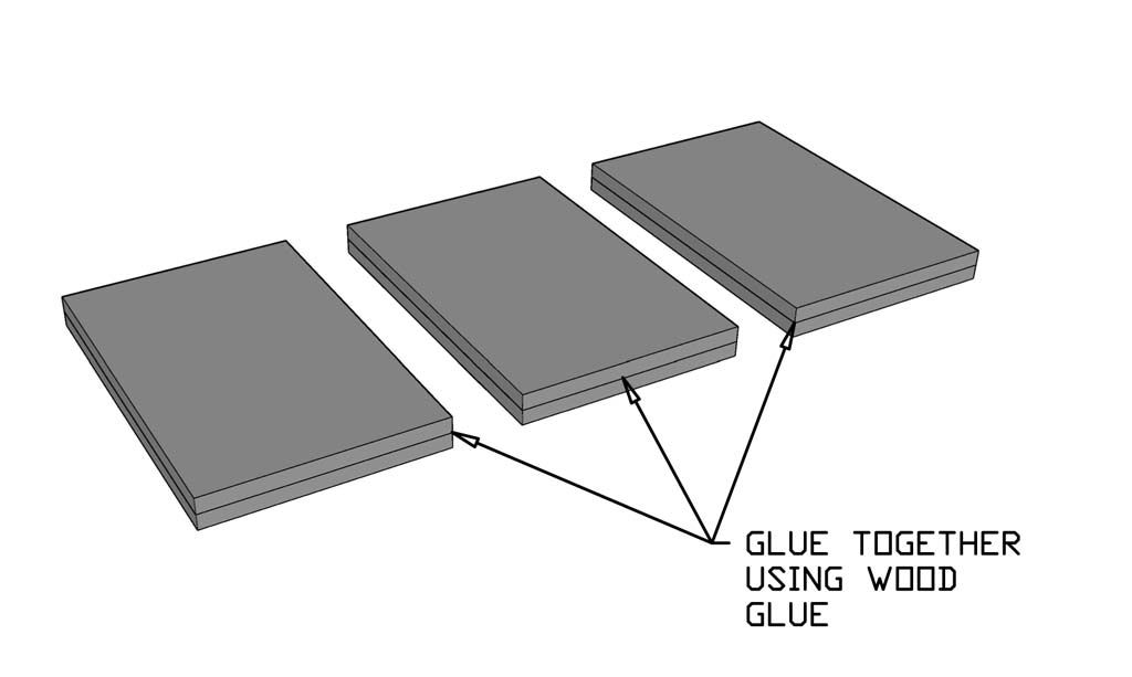 Glue boards together
