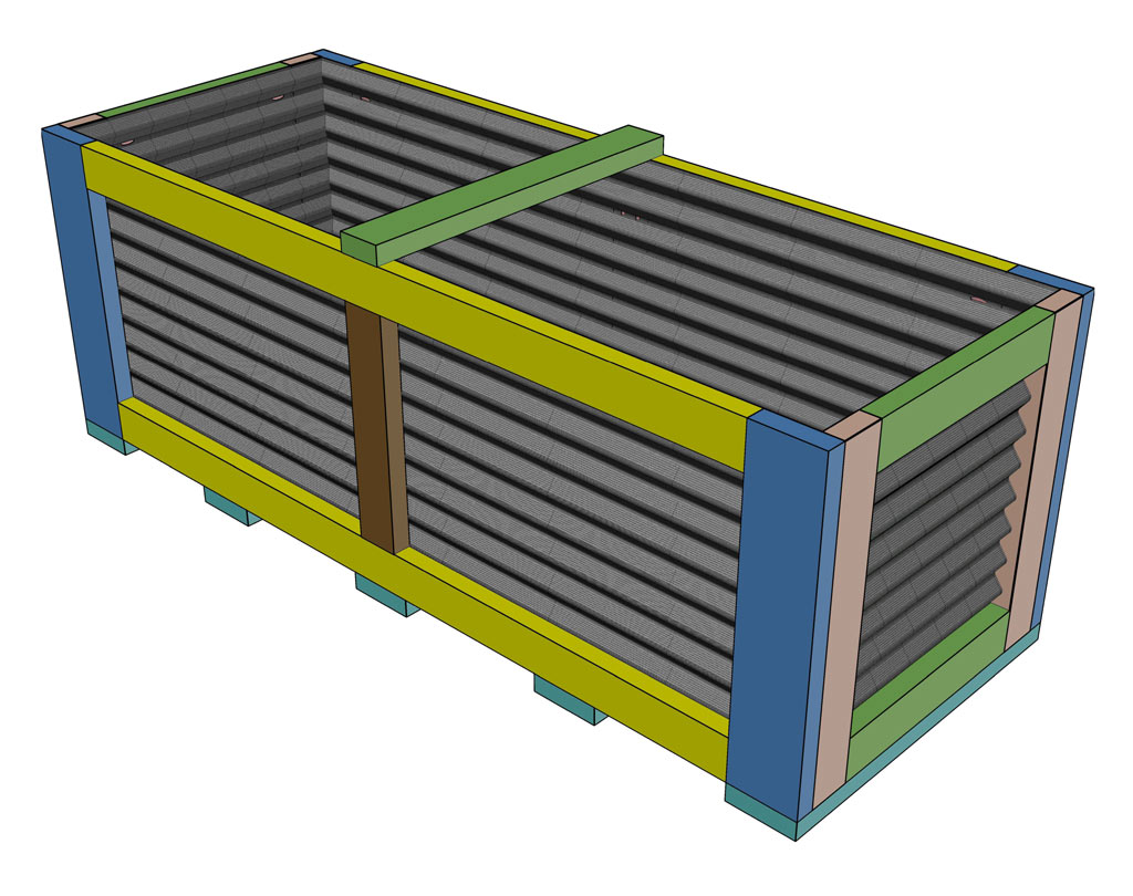 Planter box with corrugated steel roof panels