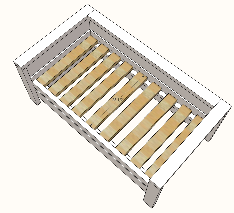 seat slats in the chair diagram