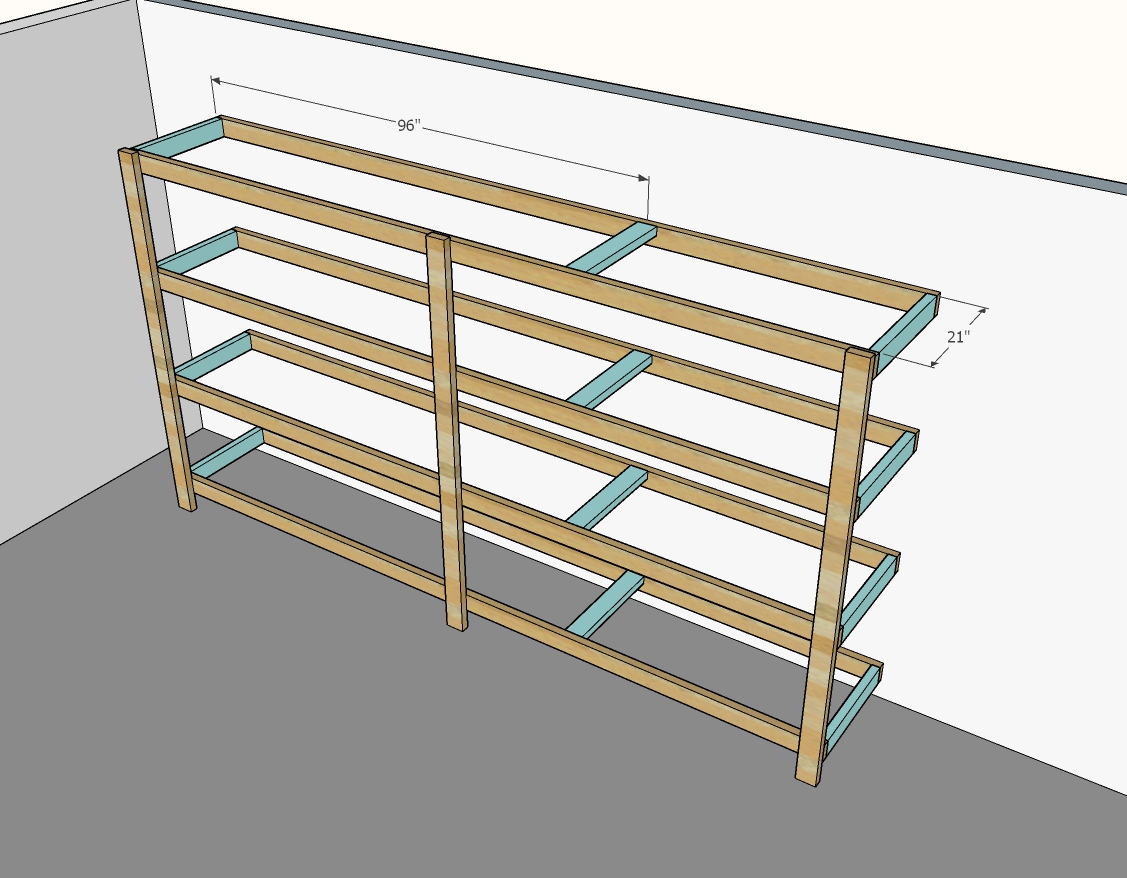 Best Diy Garage Shelves Attached To Walls Ana White