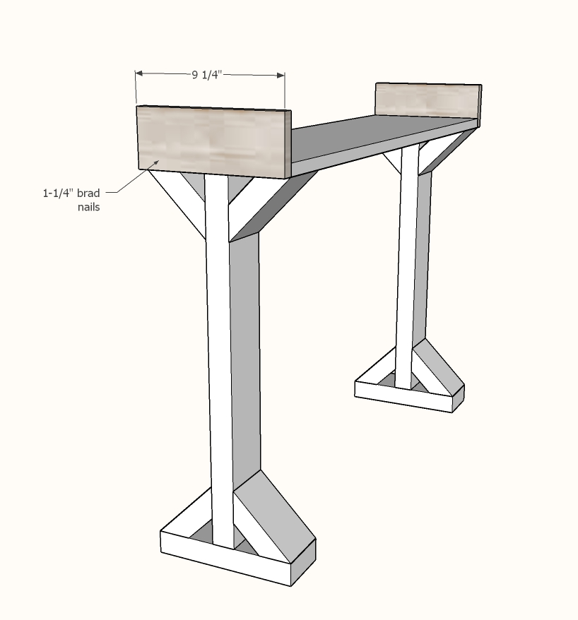 narrow console table step 4