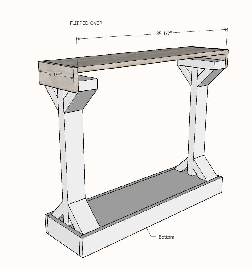 narrow console table step 6