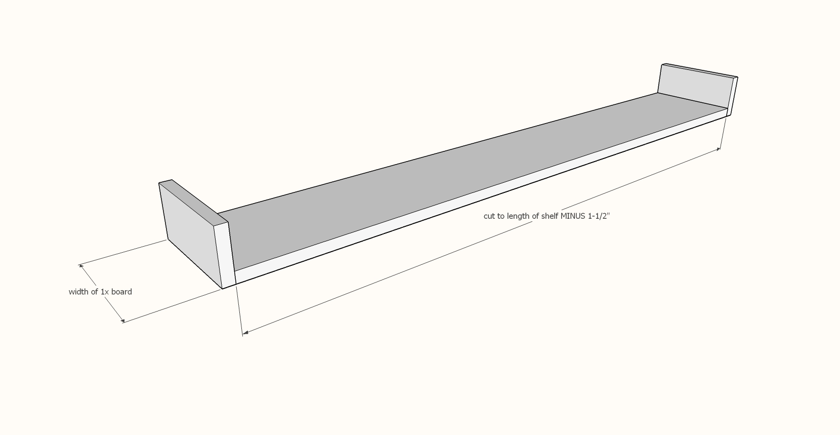 floating shelf step 1