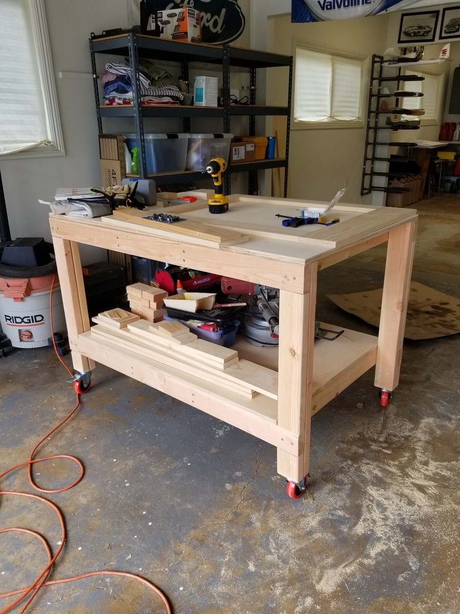 Workbench Modified With Casters Ana White