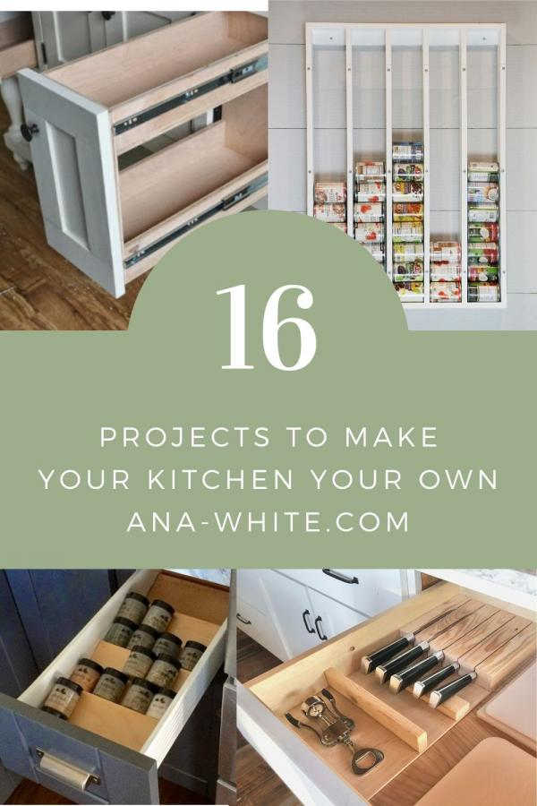 kitchen diy organizers and inserts