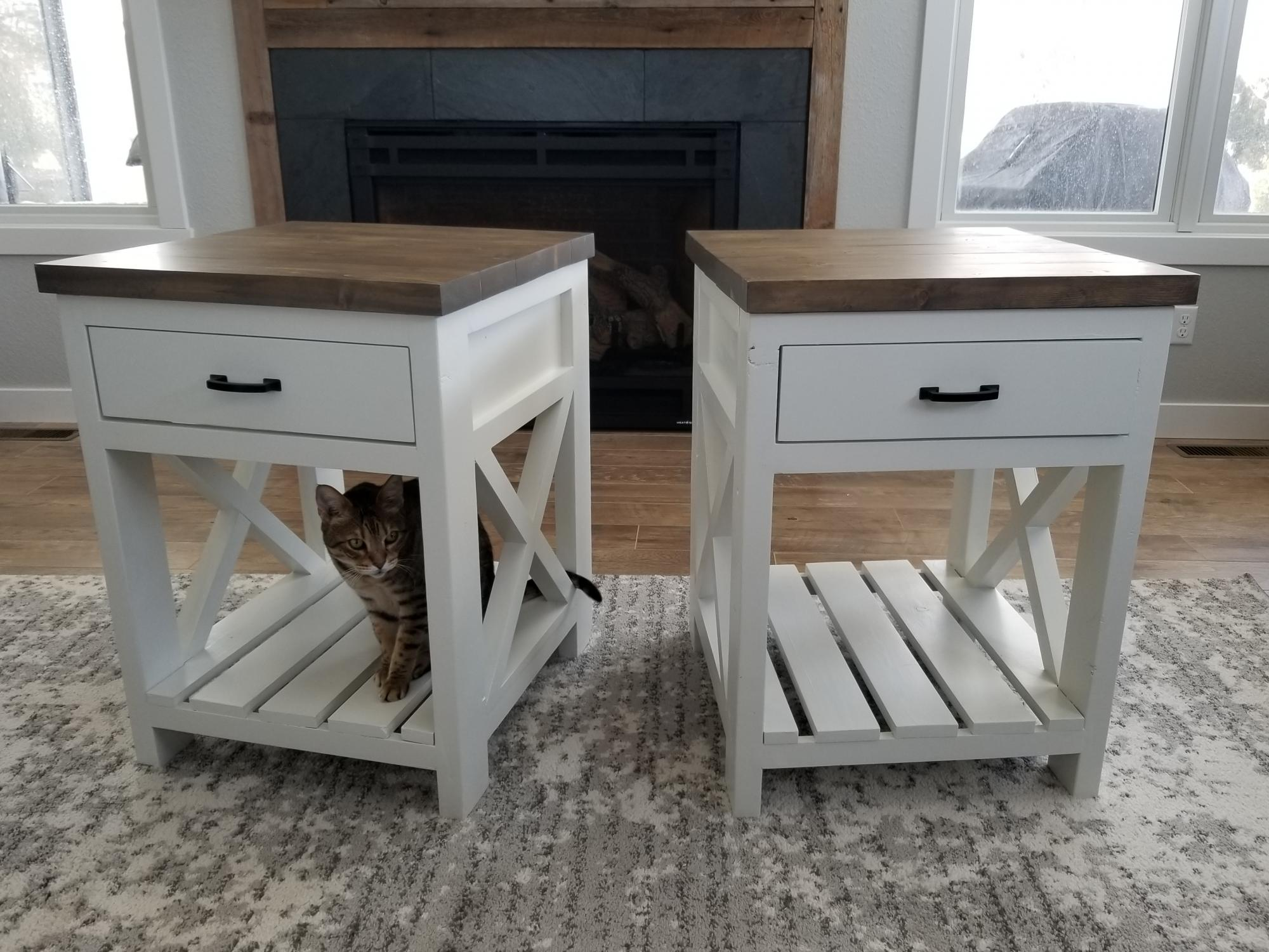 Farmhouse Nightstand Ana White