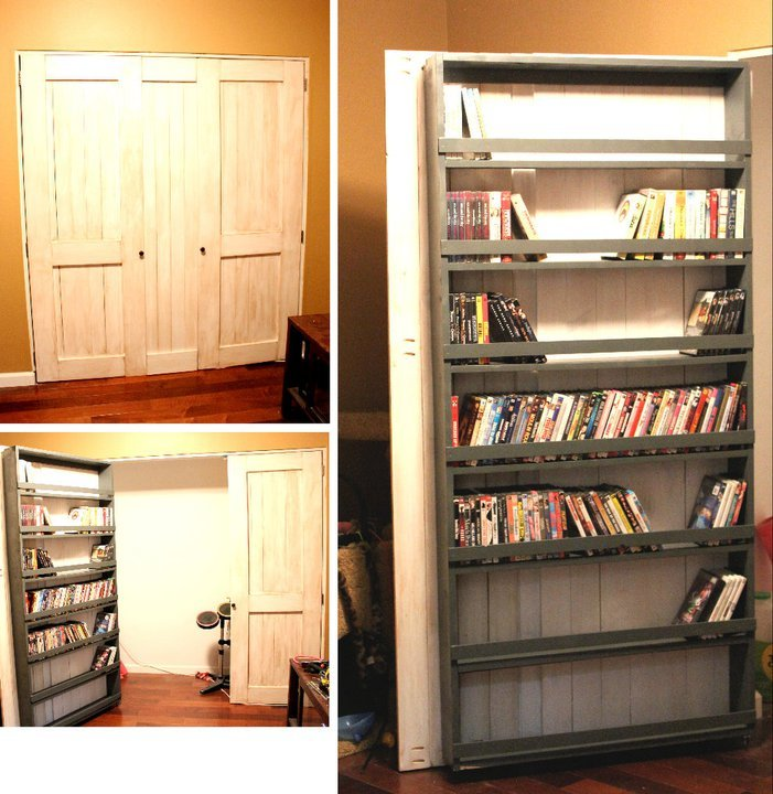 Ana White Closet Door And Dvd Storage Diy Projects