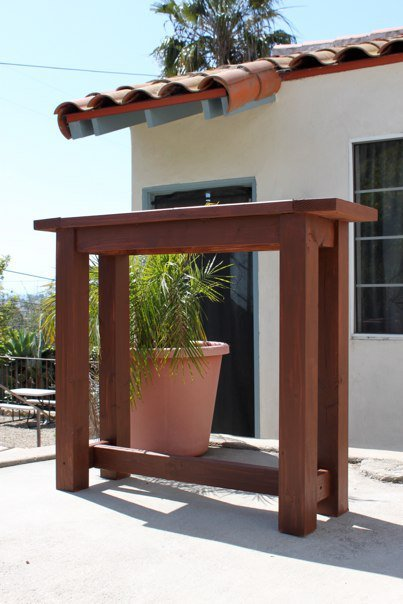 Ana white my first project outdoor bar height table diy projects - Build outdoor bar table ...