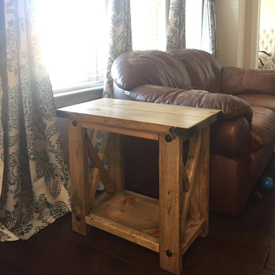 Rustic X End Table - DIY Projects