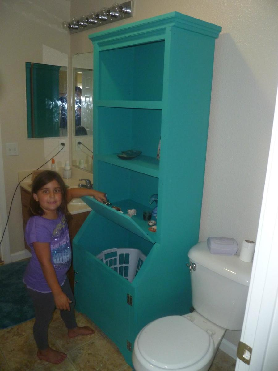 Bathroom Armoire With Laundry Hamper Ana White
