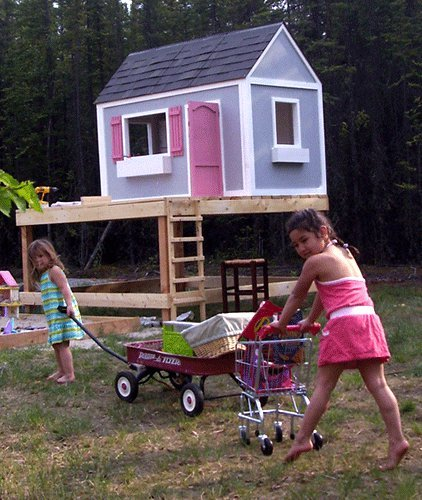 Ana White | Build A Playhouse   Front Wall Options And Door   DIY Projects