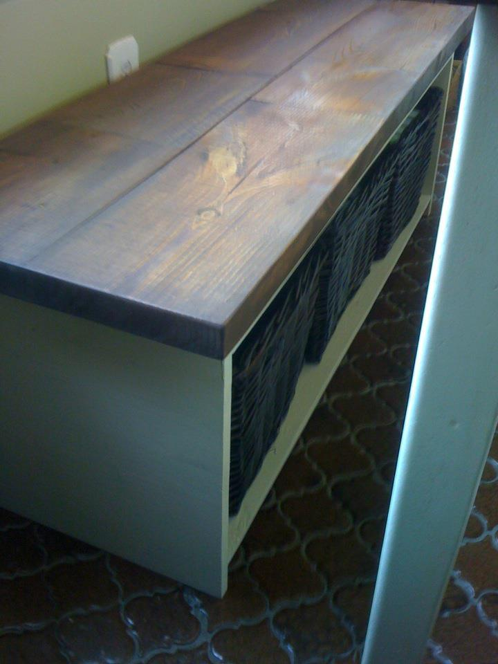 Kitchen Table Storage Bench