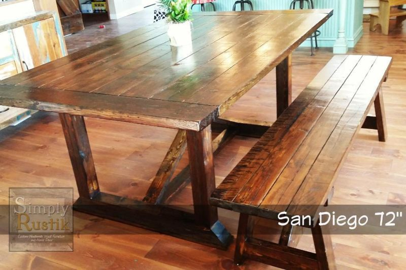 Ana White Rekourt Dining Table In Distressed Dark Walnut DIY - Distressed dark wood dining table