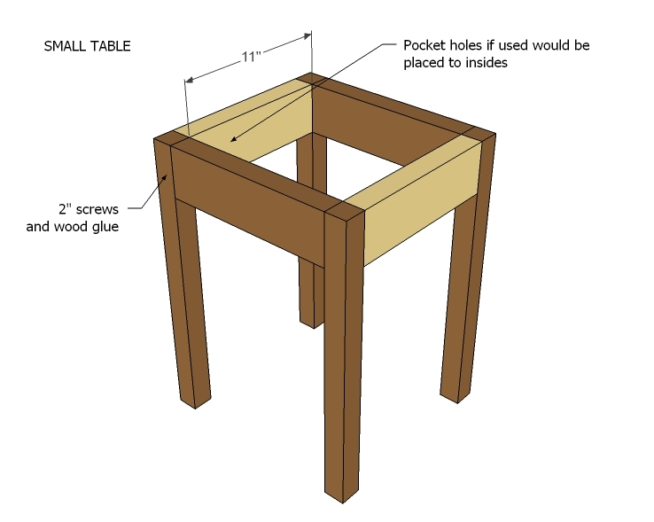 Easy table plans design decoration for Side table plans