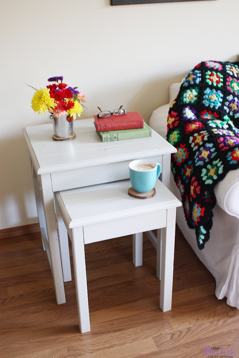 nesting end tables living room. Today  I hope you take a second to stop over and visit Brooke at Being Brook tell her thank compliment on beautiful nesting end tables Ana White Preston Nesting Side Tables DIY Projects