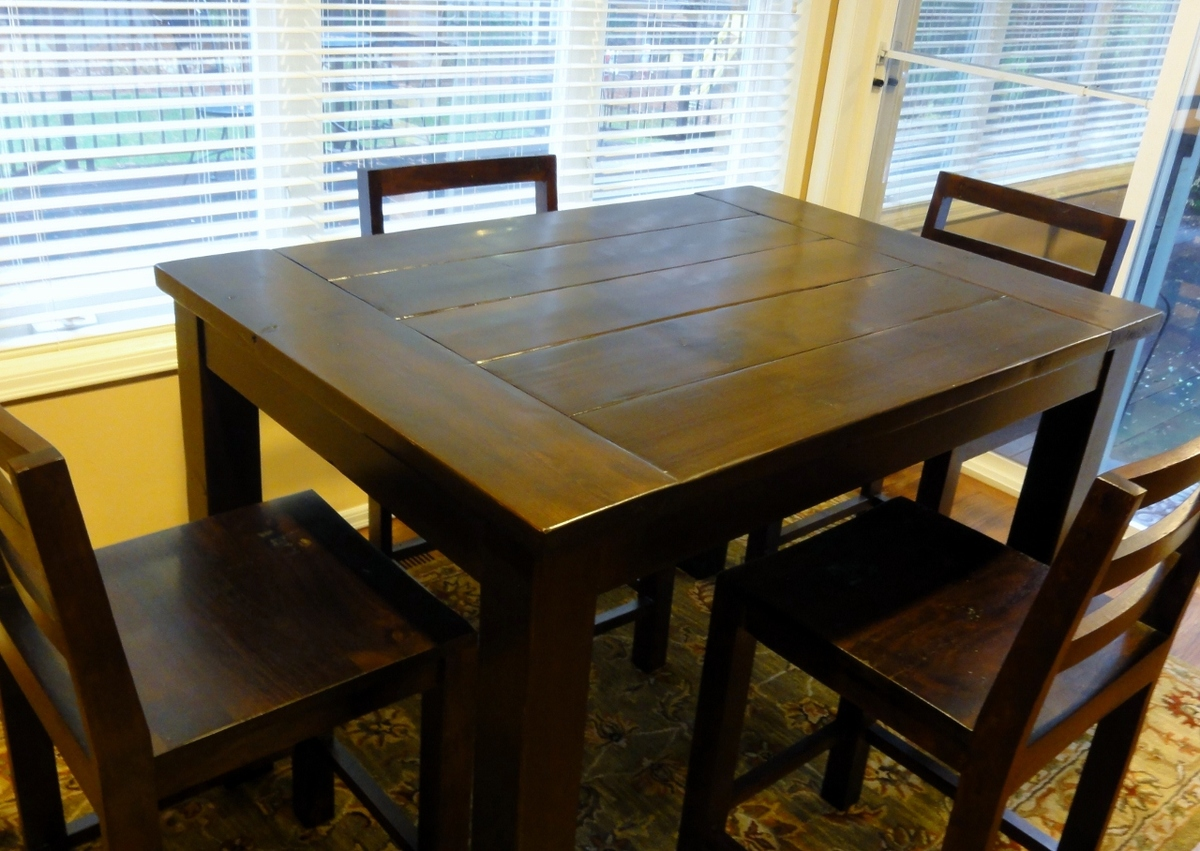 Counter Height Farm Table : Ana White Tryde Counter-height Kitchen Table - DIY Projects