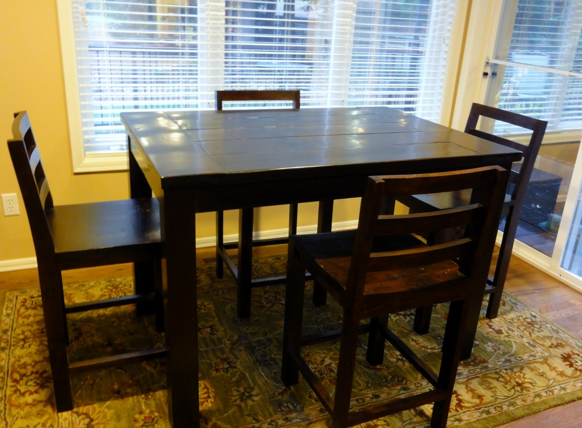 98 bar height kitchen table and chairs