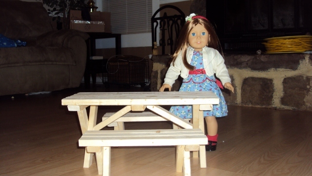 Ana White | Doll Picnic Table Set - DIY Projects