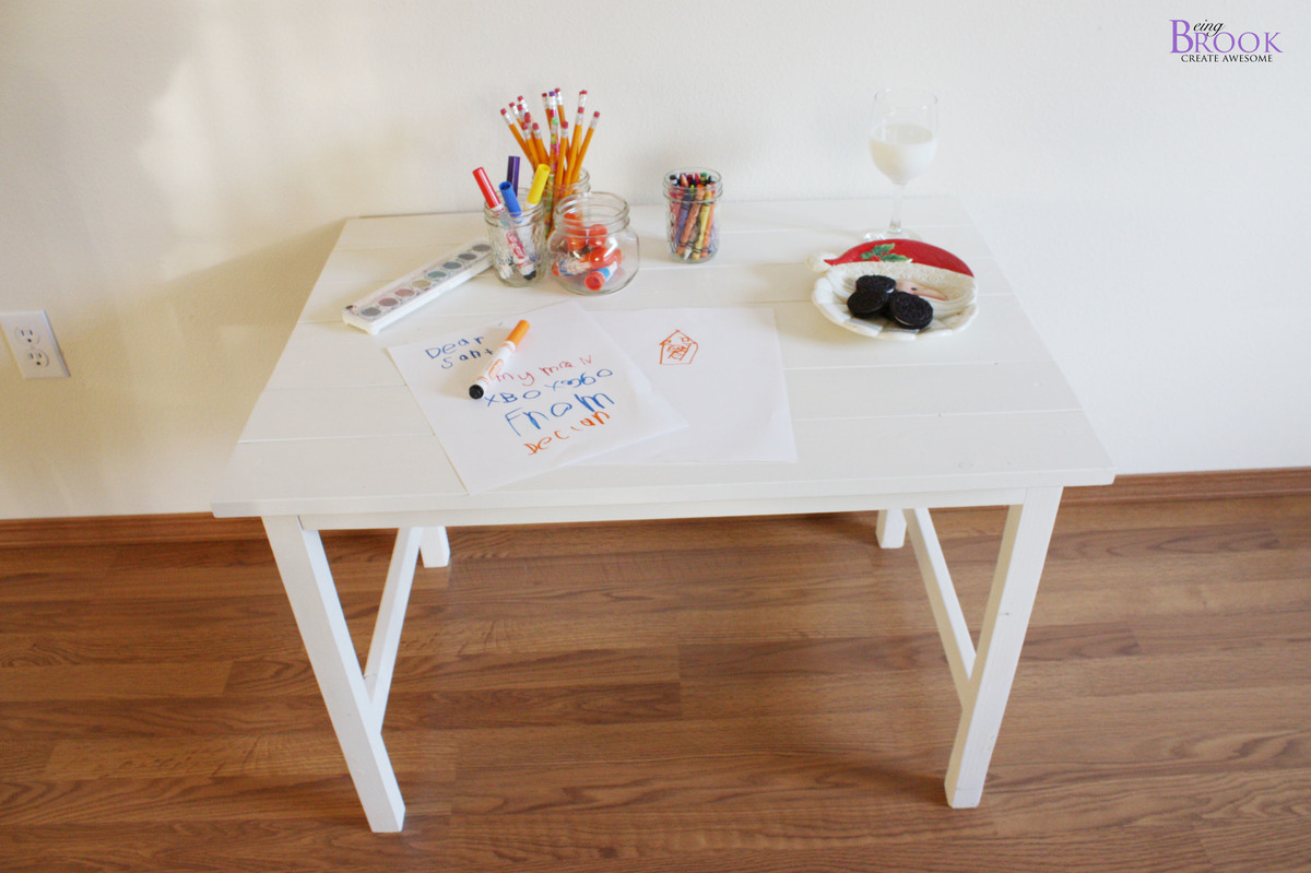 ana white kids art table diy projects. Black Bedroom Furniture Sets. Home Design Ideas