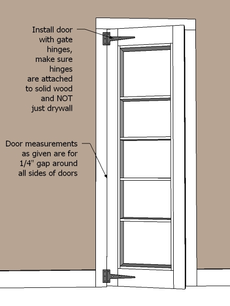 Ana White Inset Bookshelf Doorway DIY Projects