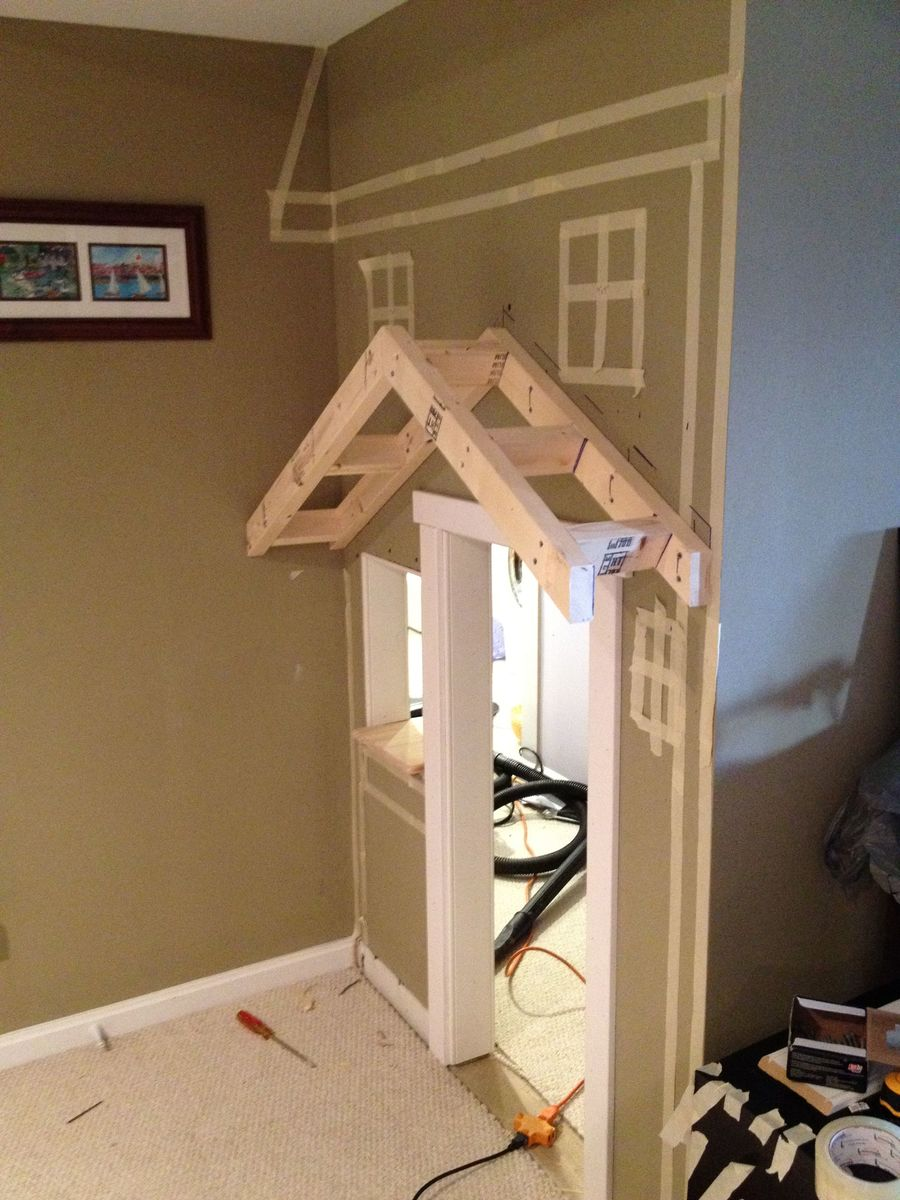 Ana White Kids Playhouse Under Stairs Diy Projects