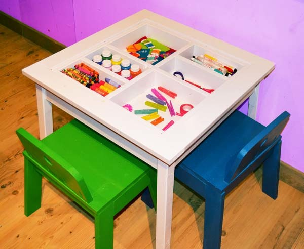 kid craft table white arts and crafts play table diy projects 2271