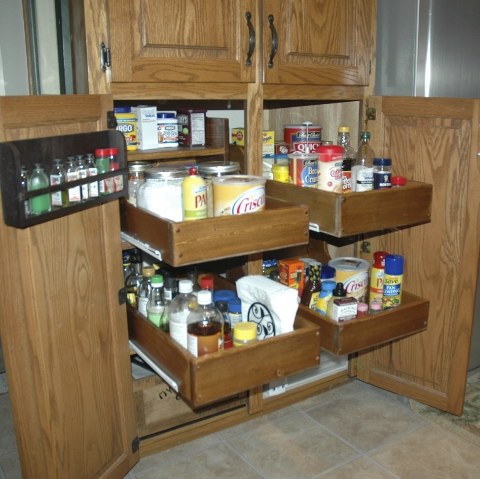 Kitchen Roll Out Spice Cabinet