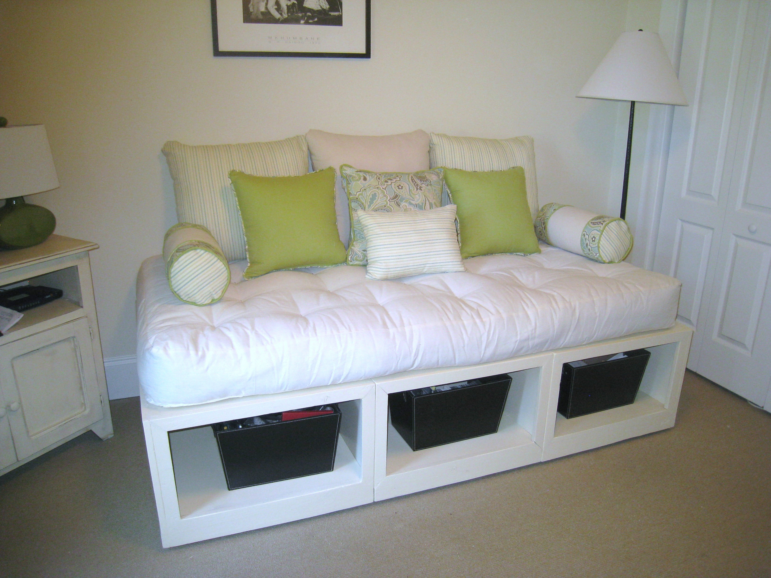 Ana white storage day bed diy projects for Home design diy
