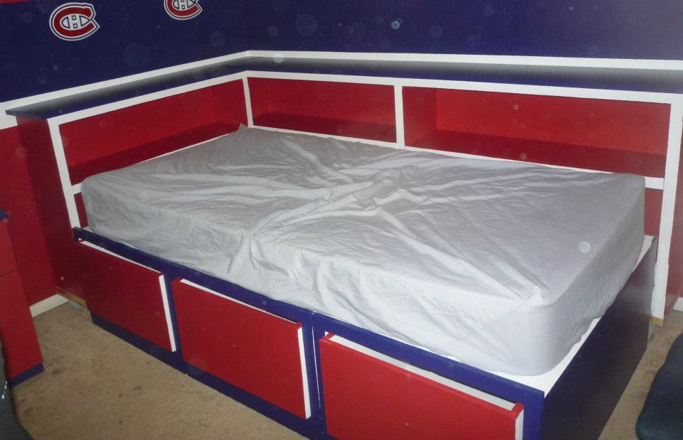 Ana White Nathan S Montreal Canadians Bed Diy Projects