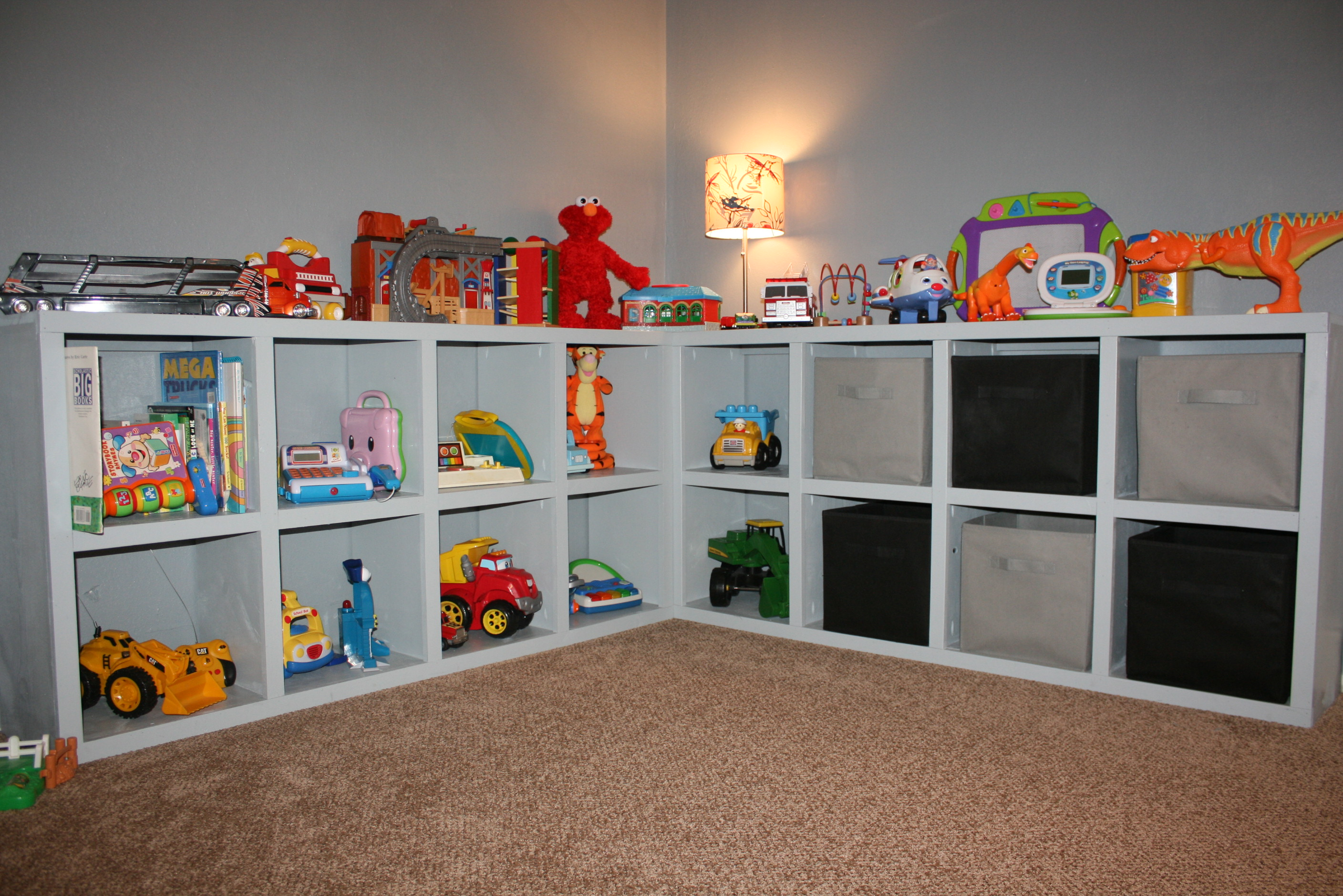 Ana white toy storage diy projects for Living room toy storage ideas