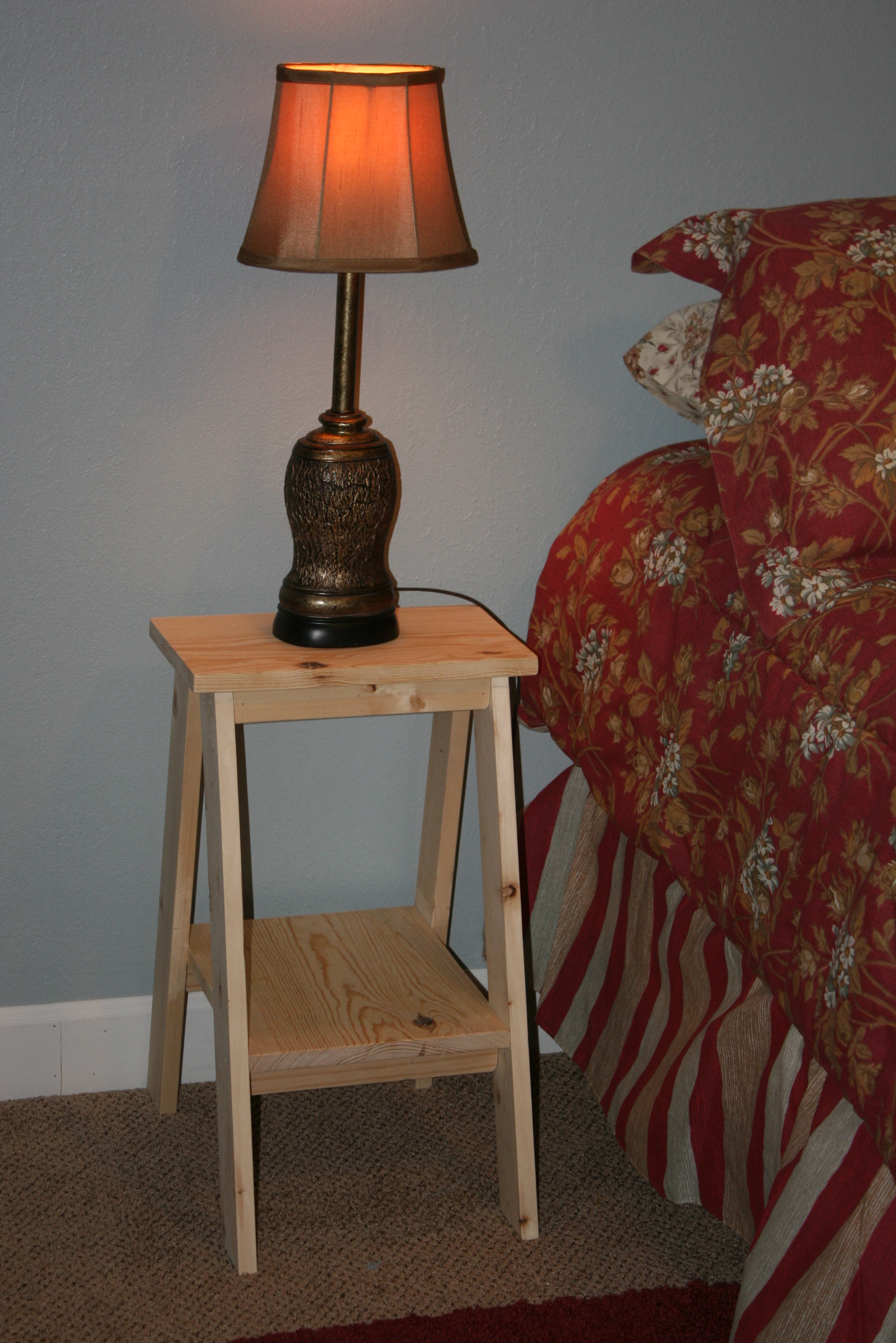 Ana White Stools Turned Nightstand Diy Projects