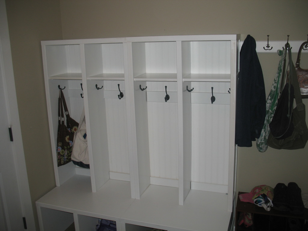 Mudroom Storage Do It Yourself : Ana white lockers for mudroom diy projects