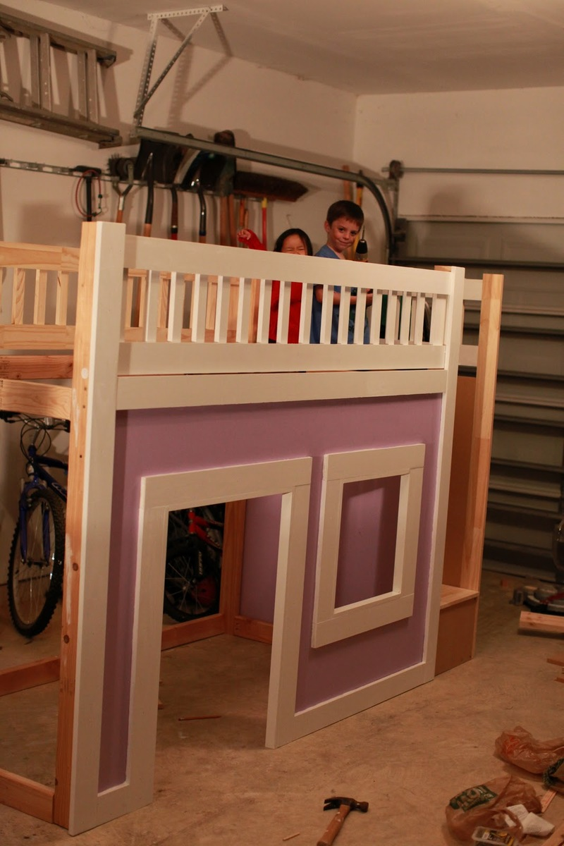 Ana White Princess Bed With Stairs And Slide Diy Projects
