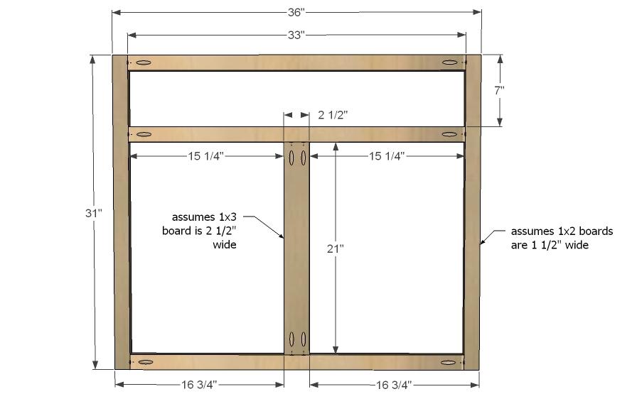 Ana White Kitchen Cabinet Sink Base 36 Full Overlay Face Frame