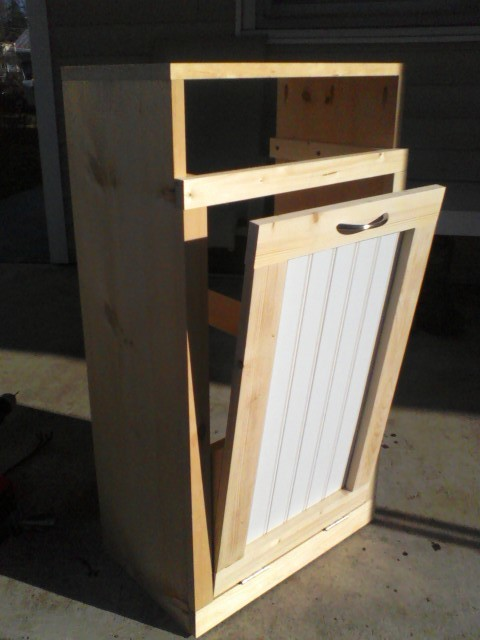 Ana White Tilt Out Trash Bin Diy Projects