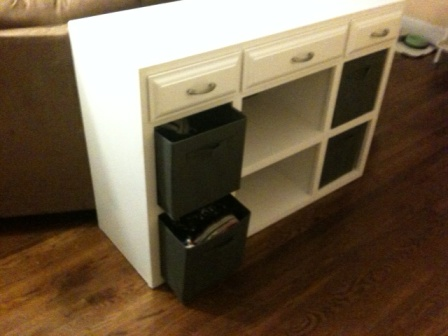 Storage Cubical Doubling As A Sofa Table Ana White