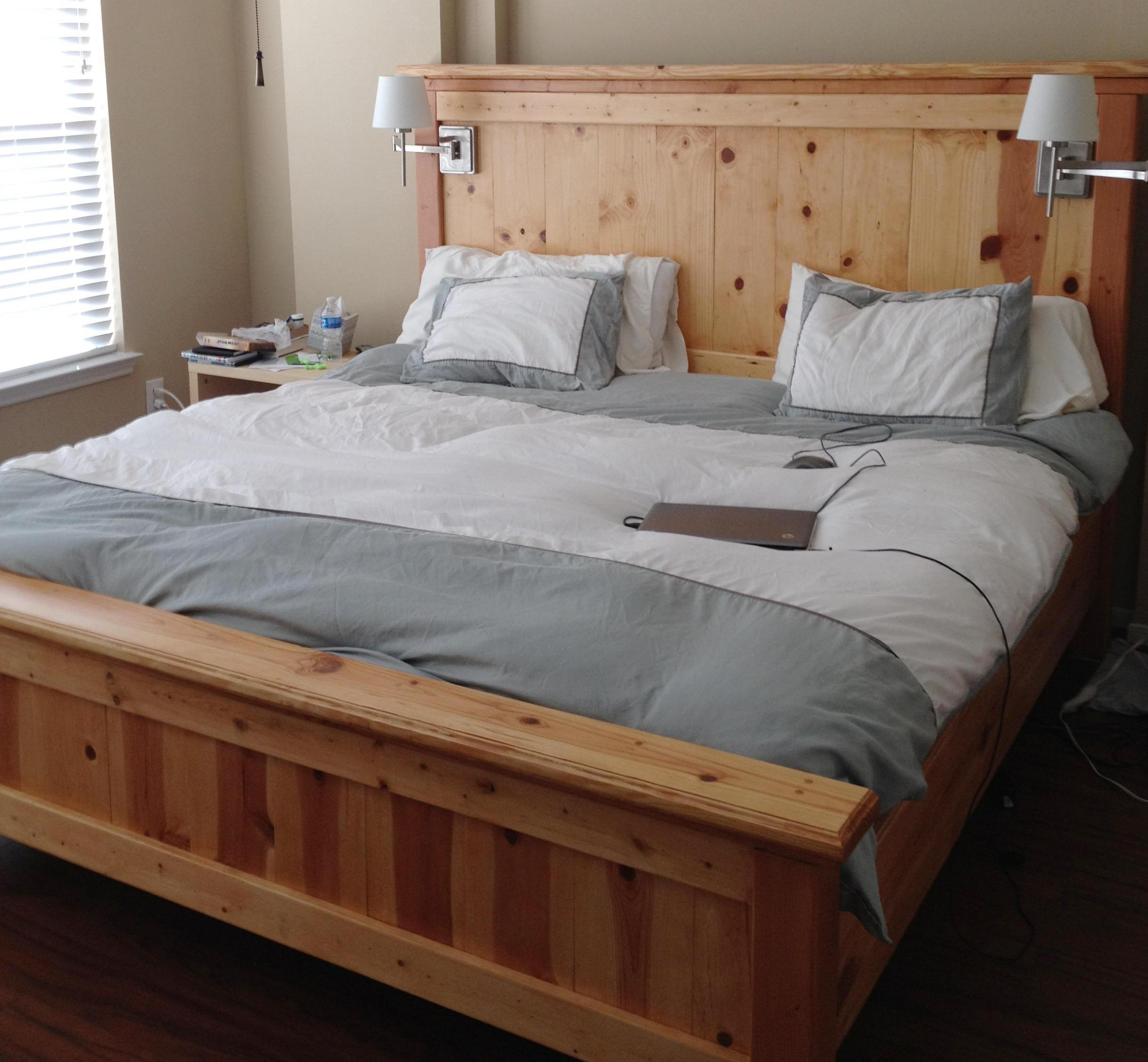 Ana White Farmhouse Bed King Diy Projects