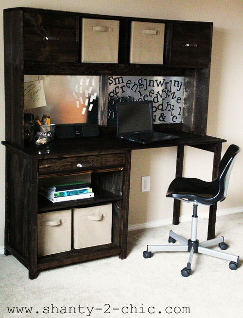 Ana White Channing Desk Hutch DIY Projects - Computer desk with hutch plans