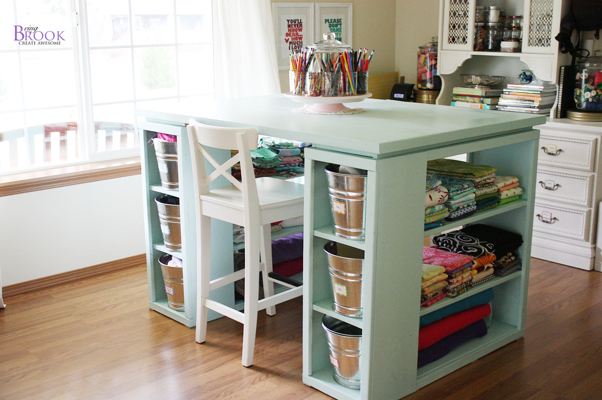 Ana White Build A Modern Craft Table Free And Easy DIY