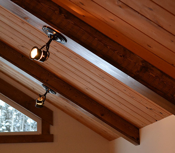 ana white beams of light diy projects On faux beams with recessed lights
