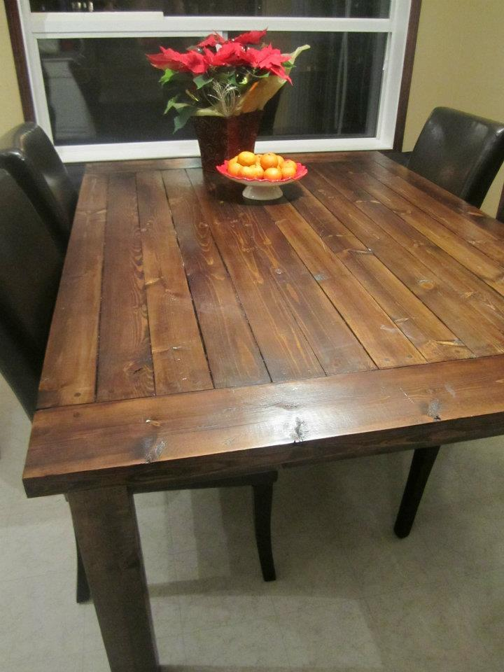 Ana white tryde table diy projects - Ana white kitchen table ...