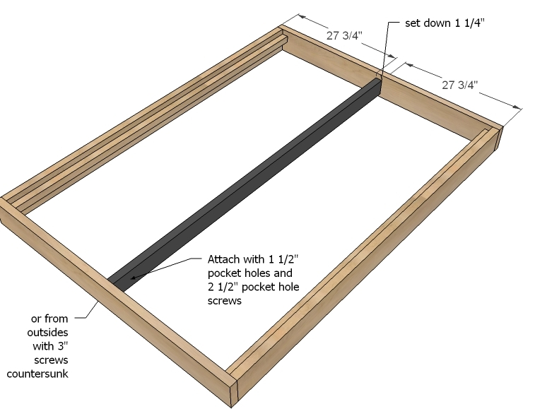 diy full size platform bed plans | Moondel Woodplan