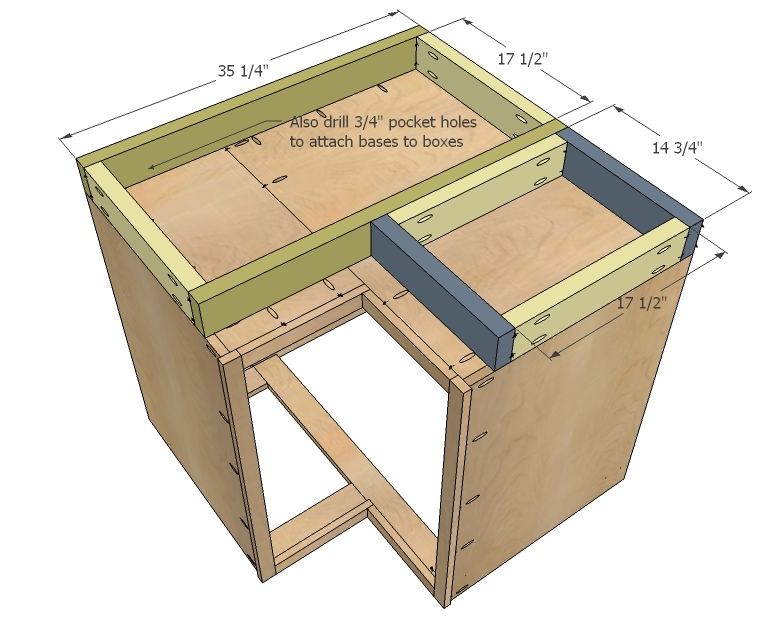 Build The Face Frame First And Then Attach Remember Sides Overhang By 1 4 To Give You Some Wiggle Room When Installing Cabinets