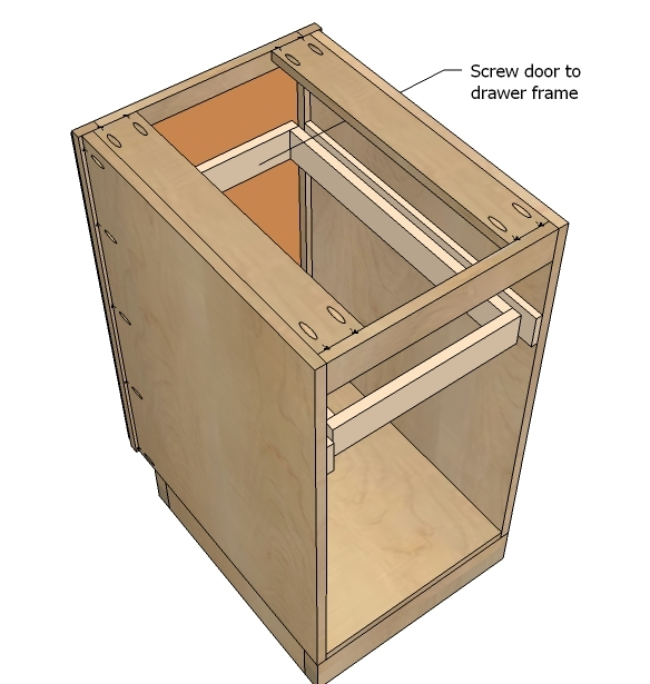 ... a bottom of course - to just act as a pull out platform for your trash can. Note: if you do this I recommend adding cross supports for extra strength.