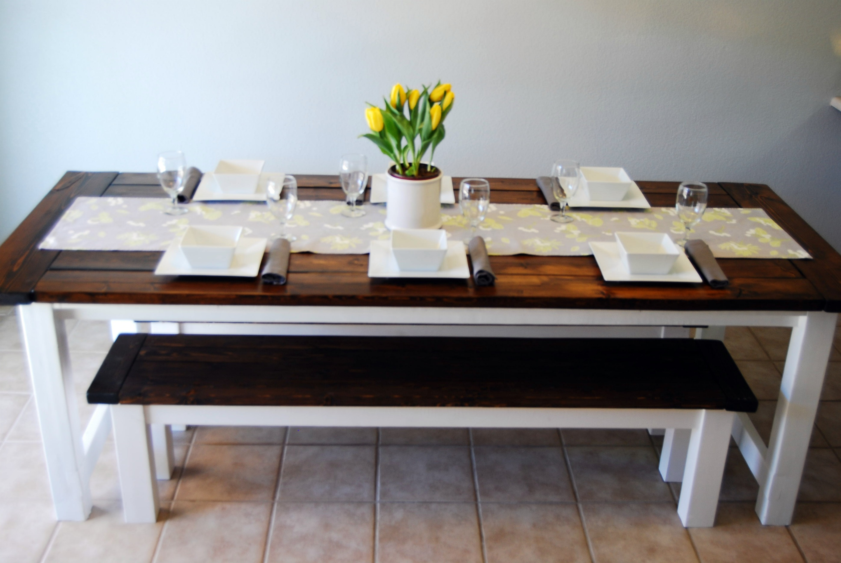 Best 25  Diy Farmhouse Table and Bench