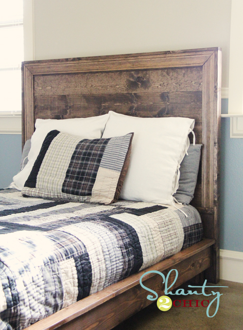 how to build a planked headboard with moulding inspired by pottery barn teen hampton planked platform bed headboard free easy diy plans including shopping - Diy Backboard Bed