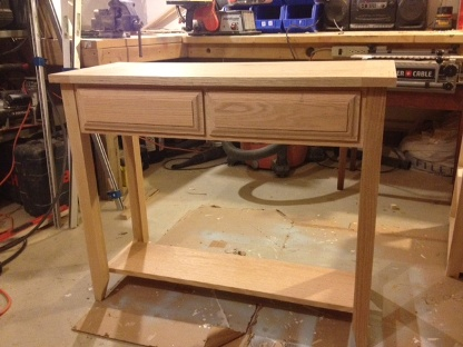 Solid Oak Entry Table Ana White Woodworking Projects