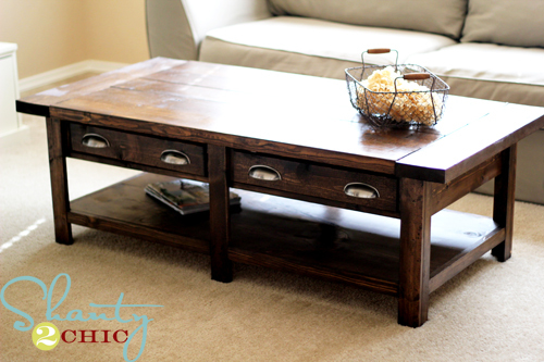 Pottery Barn Rustic Coffee Table.Benchright Coffee Table Ana White